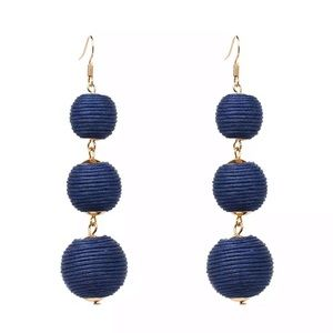 Jewelry - Navy Bauble Bon Bon Earrings